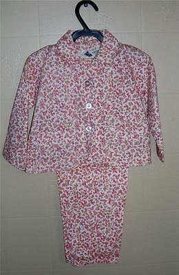 GIRL'S VTG RETRO 60s HIPPIE FLOWER CHILD SUIT TOP/JACKET & PANTS SUIT Sz 4 NOS