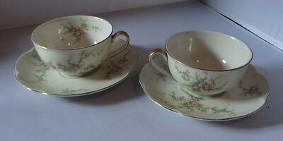 Theodore Haviland Rosalinde 2 Cups and 2 Saucers