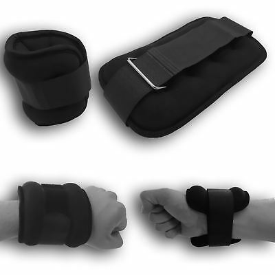 BodyRip Wrist Ankle Leg Hand Weights Wrap Pair 0.5-2KG Gym Strength Training