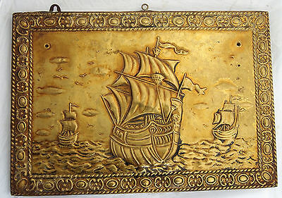 Vintage Large Maritime Ship Brass  Plaque Sign