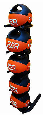 FXR SPORTS SMALL MEDICINE BALL RACK w/ 36KG DOUBLE HANDLE MEDICINE BALL SET
