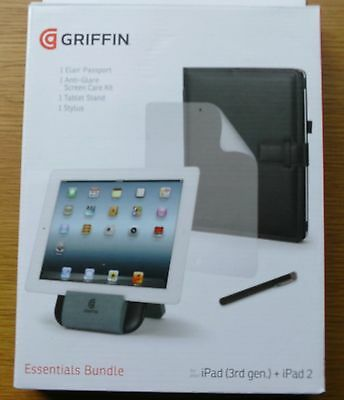 NEW GRIFFIN Essentials Bundle for iPad 2/3/4 ~ Case/stand/stylus/screen prot