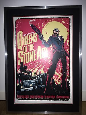 Framed Queens of the Stone Age Concert Poster