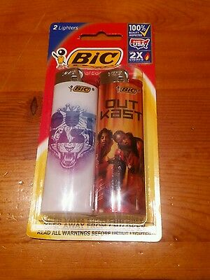 BIC Special Edtion 2x Lighters!! Outcast Design! Factory Sealed RARE