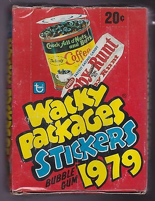 1979 Topps WACKY PACKAGES 1st Series Box of Unopened Wax Packs