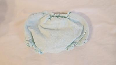 Vintage Infant Rubber Pants Diaper Cover Blue Terry Cloth 12Months Baby No Tares