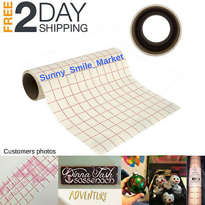 "Transfer Paper Tape Roll 12"" x 8' Alignment w/ Grid for DIY Craft Adhesive Vinyl"