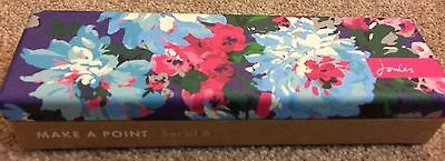 Joules Dark Blue Floral Box Of Six Pencils Brand New