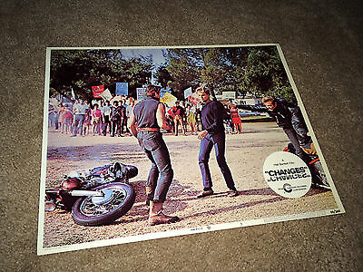 CHANGES Lobby Card Movie Poster 1969 Motorcycle Gang Hells Angels Campus Hippies