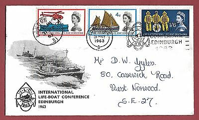 1963 First Day Cover - International Life-Boat Conference Edinburgh Slogan - Cds