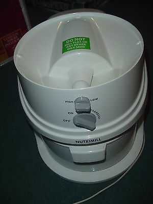 Nutrimill  Electric Grain Mill   White  Very Nice