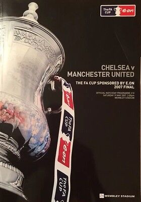 Fa Cup Final Programme 2007 Chelsea V Manchester United