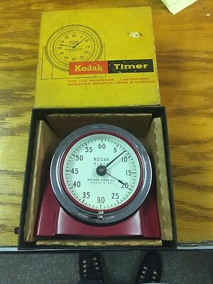 Vintage Eastman Kodak Darkroom Timer Red Model 8239 NM in Box - See Pics