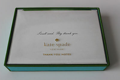 """KATE SPADE """"Small Card Big Thank You"""" Note Card Set - NEW ** FREE SHIPPING **"""