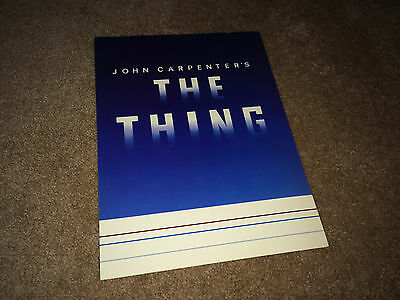 THE THING 1982 Movie Promo Souvenir Advance Brochure John Carpenter Horror