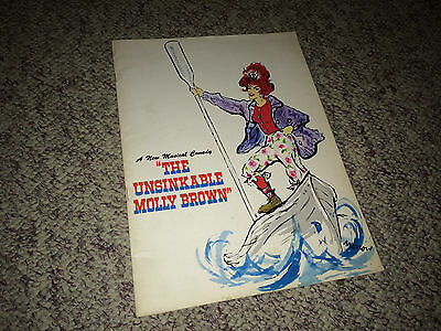 UNSINKABLE MOLLY BROWN Orig 1960 Broadway Musical Theatre Program Tammy Grimes