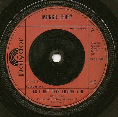 "Mungo Jerry ""can't Get Over Loving You"" Polydor 2058 603 (1975)"