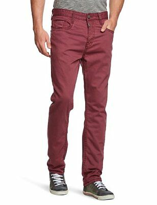 Timezone - Jeans, Uomo, Rosso (Rot (red wine 5120)), 44 IT (30W/32L)