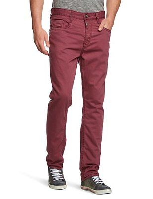 Timezone - Jeans, Uomo, Rosso (Rot (red wine 5120)), 44/46 IT (31W/32L)