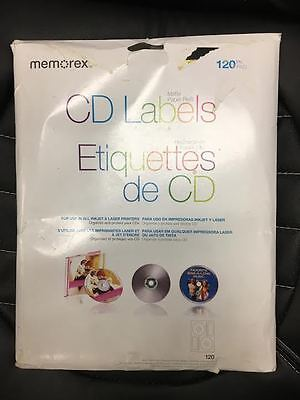 Memorex CD/DVD Labels 120-Pack, White (READ LISTING-HALF PACK FOR SELL)