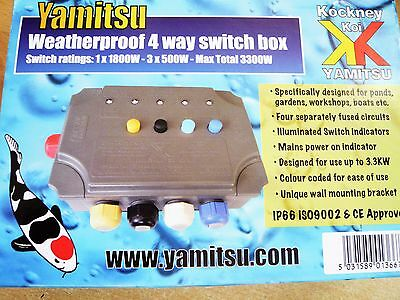 Yamitsu 4 Way Switch Box Koi Pond Filter Fish Garden