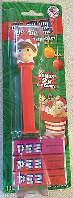 NEW Red Elf on a Shelf Pez Dispenser with 2x (double) Bonus Candy 6 Refill Packs