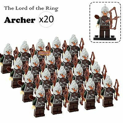 20PCs/Lot Rohan Archers Minifigures The Lord of the Rings Hobbit Building Toys