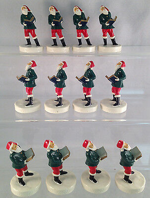 Lot of 12 Harmonizing with Santa Figurines - Great Christmas Gifts or Resale!