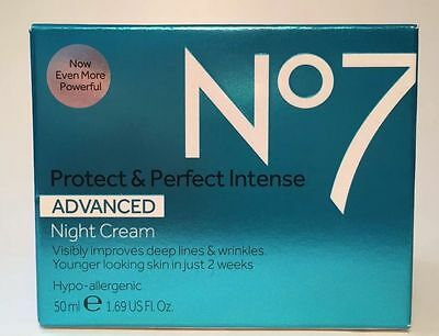 Boots No7 protect & and perfect intense advanced night cream - 50ml BOXED
