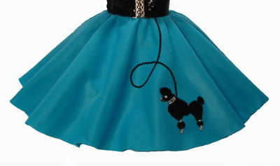 Teal 50's POODLE SKIRT for BABY (6-9-12-18) months