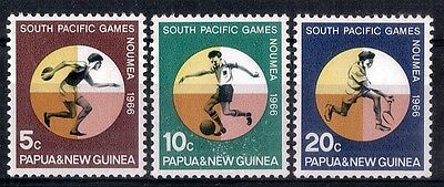 Papua New Guinea.  1966  South Pacific Games.  SG97-99.    MNH.