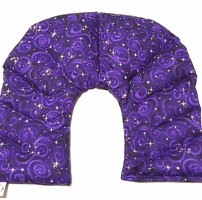 10 Chamber Herbal Pack Shoulder, Neck, Hot Cold Pack, Heat Wrap, LARGE, Purple