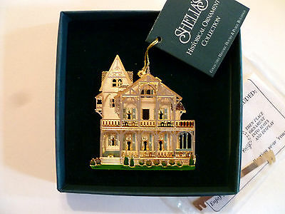 Shella's Historical Ornament Collection, Clark House, Collectible, 3-D, w/stand