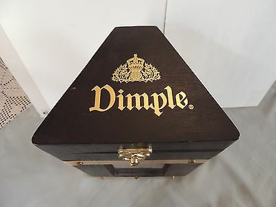 Dimple Whiskey Wooden Box Case with bronze ornaments