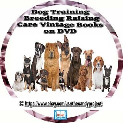 Dog Breeding Training Caring Hunting Puppy Pup Hounds Vintage Books DVD
