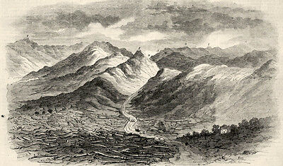 Cumberland Gap Tennesse, Forts, Military Positions 1862 Antique Print