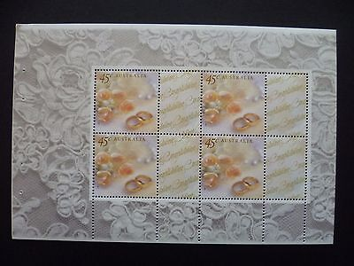 Australian Stamps - 1999-2003 Roses and Rings booklet pane (4 x 45c)