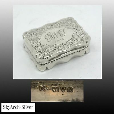 Solid Silver~Snuff Box~Hallmarked Chester 1912~Colen Hewer Chester~