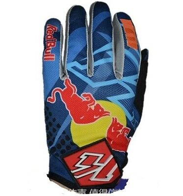 Blue KTM RedBull Monster Cycling Gloves Motorcycle Motocross Bike, KTM FOX TLD