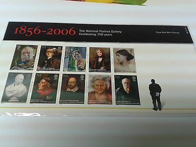G.B. 2006  THE NATIONAL PORTRAIT GALLERY     Presentation pack