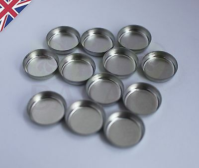 Empty Round Tin Pan for DIY Eyeshadow Responsive to Magnets 15mm - WARNING SMALL
