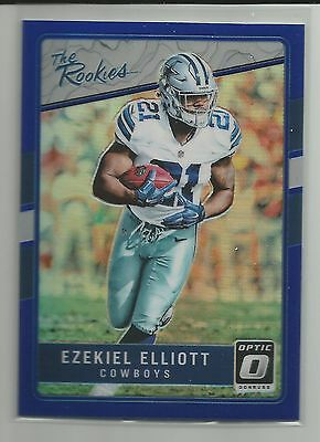 2016 Optic  Ezekiel Elliott  Rookie Blue Holo #37/149 Rc  Cowboys # 1