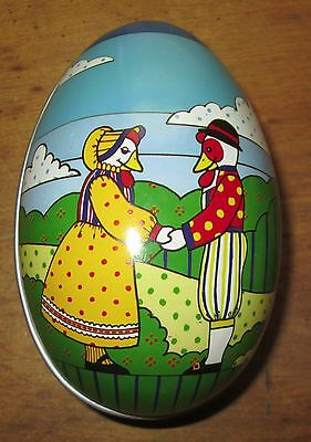 Vintage 1985 Midwest Canon Falls Tin Metal Easter Egg candy container holder box