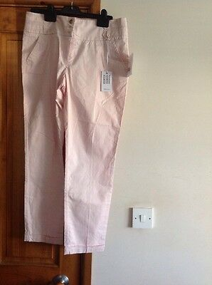 Ladies New Pink Cotton Jeans Size 12 With Pink Cotton Top