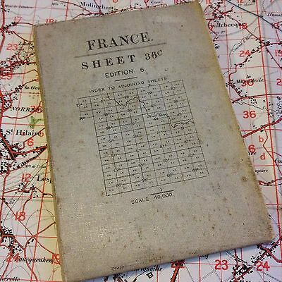 Ww1 1917 Map Vimy Mons Loos Lens British Officer War Military Trench Medal Badge