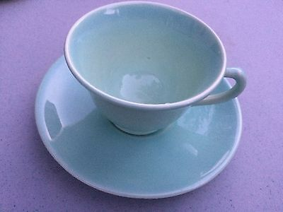 Vintage TS&T Lu-Ray Pastels Tea Cup +  Saucer   Pastel Green