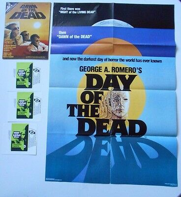 George Romero lot Day of the Dead poster 1985 Dawn of the Dead posterbook