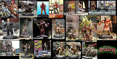 Spinespur horror urban miniatures chainsaw molotov thugs monsters multi listing