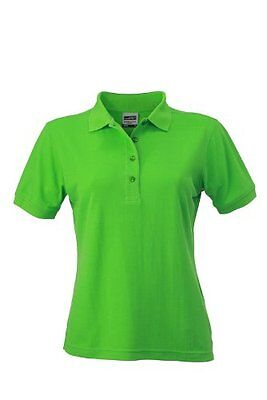 James & Nicholson - Polo Ladies Workwear, Polo Donna, Verde (Lime-Green), X-Larg