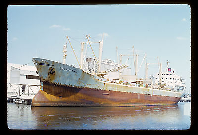 Commercial Ship Polarland Tampa FL 1972 Original Kodachrome